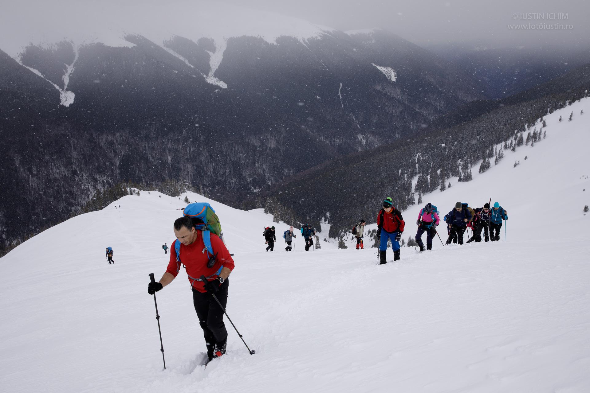 Traseu de iarna pe Lespezi