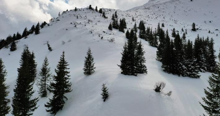 Peisaj de iarna in Muntii Fagaras