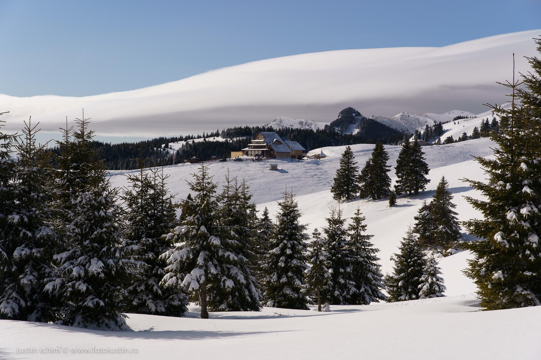 Peisaj, cabana vârful Ciucaș