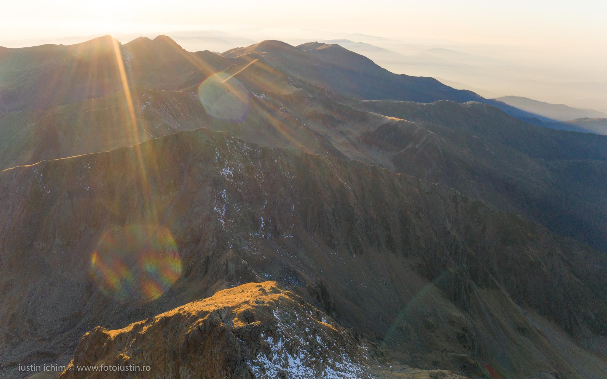 Munții Făgăraș, vedere aeriană