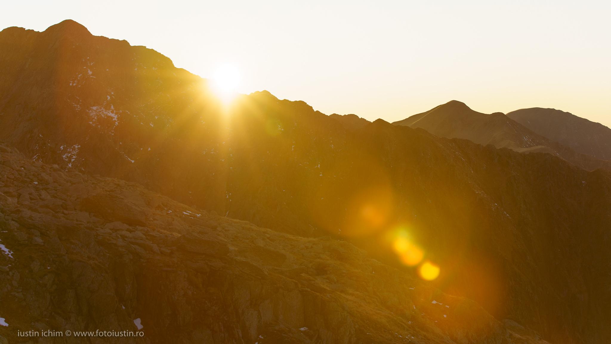 Munții Făgăraș, vedere de seară