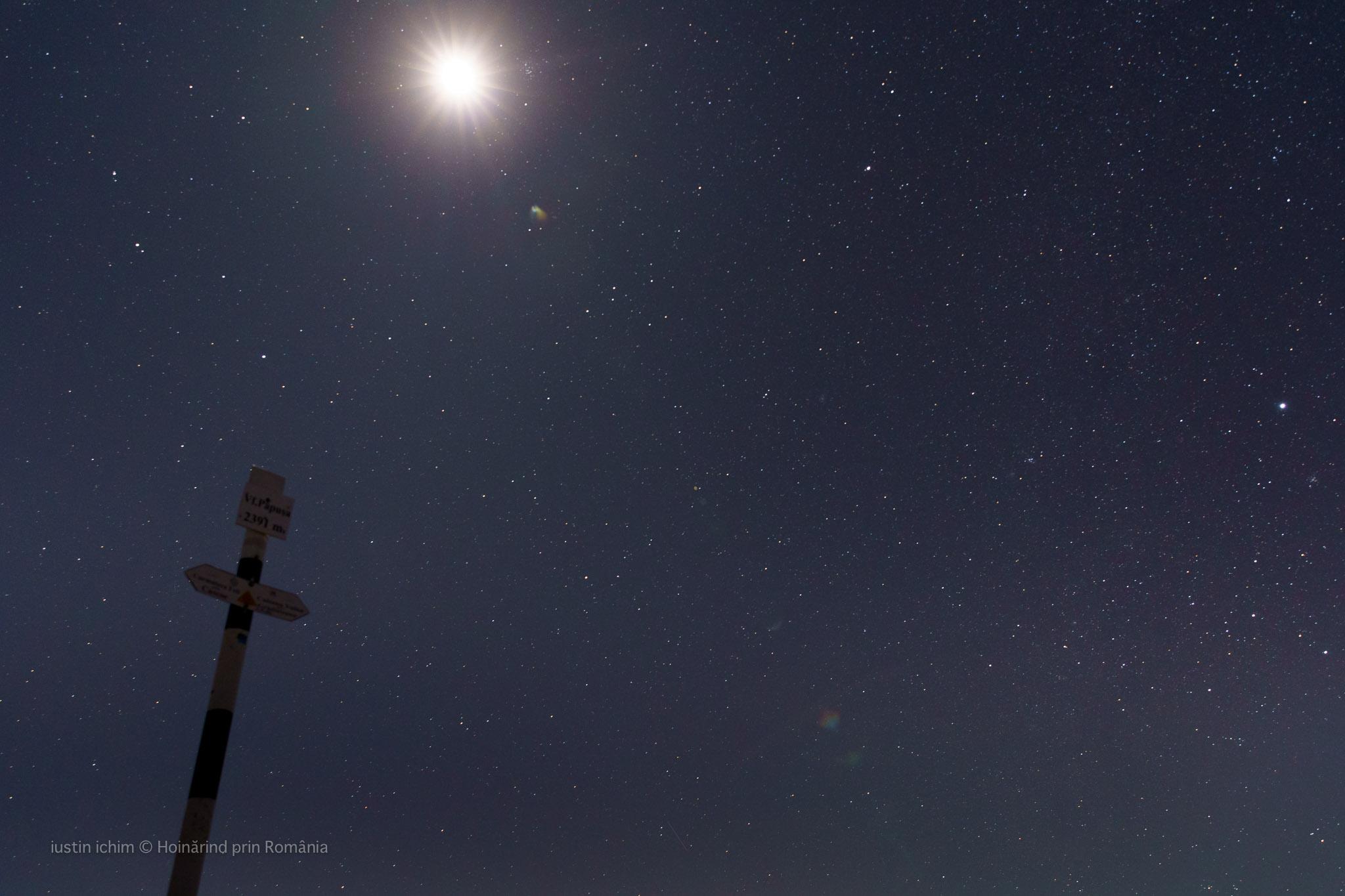 Vf. Păpușa si cerul plin de stele