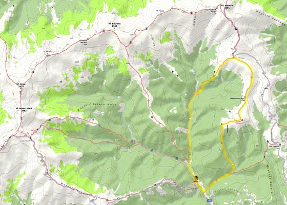 Harta Munții Iezer Păpușa