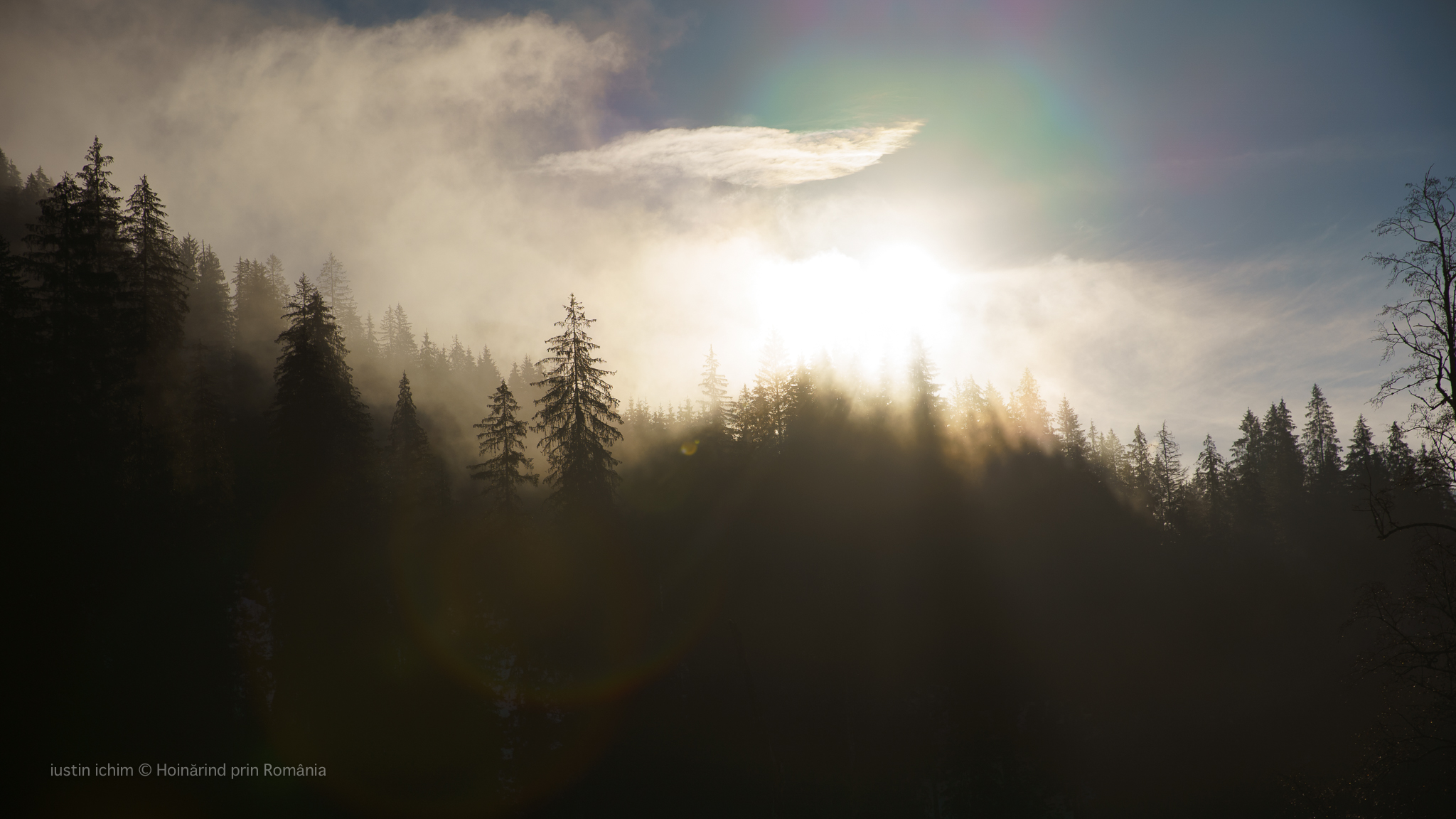 Peisaj feeric, printre raze de soare