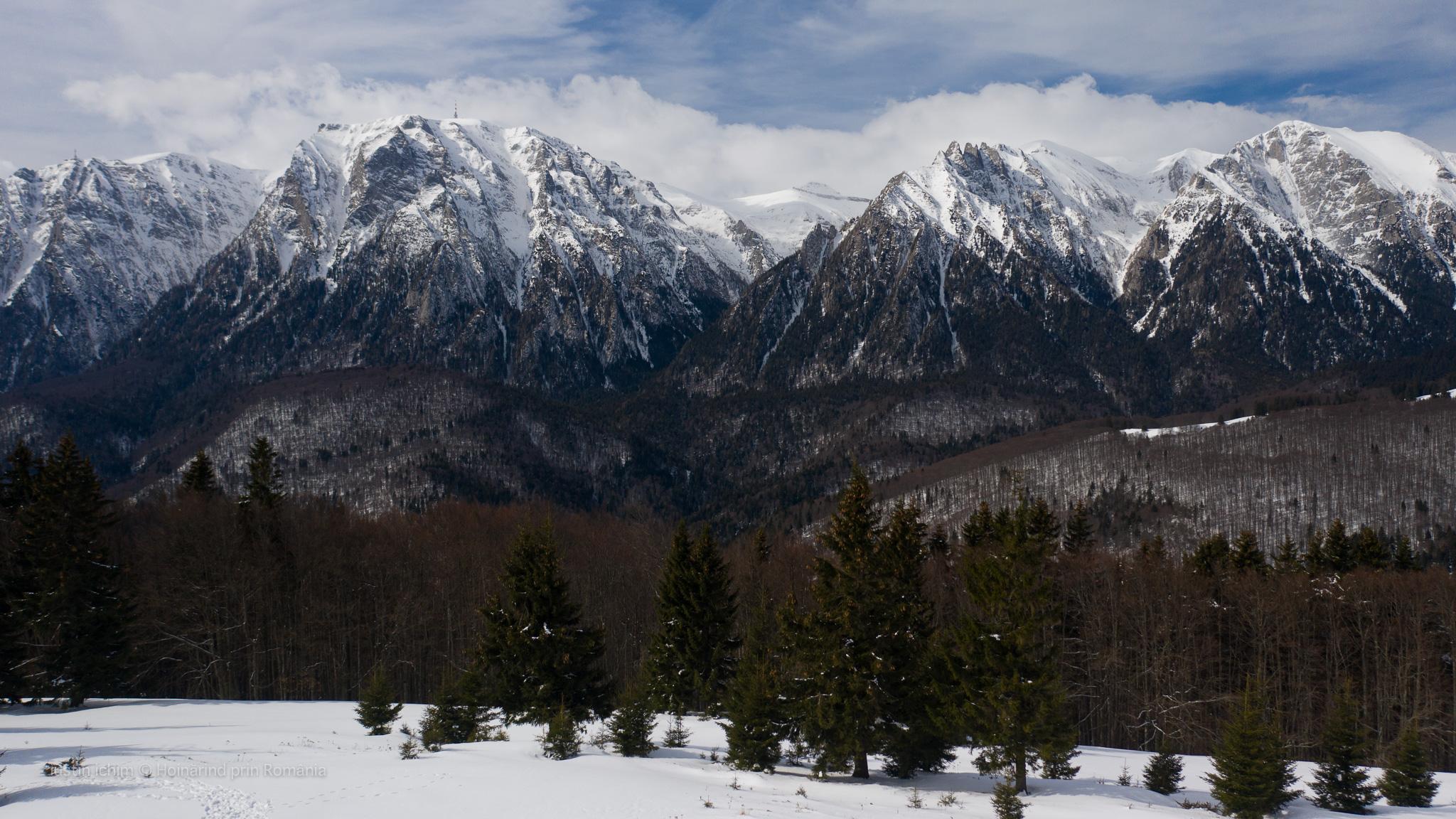 Munții Bucegi, vazuti de pe vf. Grecului